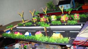 working model on environment for science exhibition
