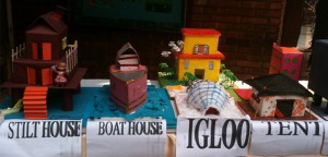 types of houses, school project, houses models for kids