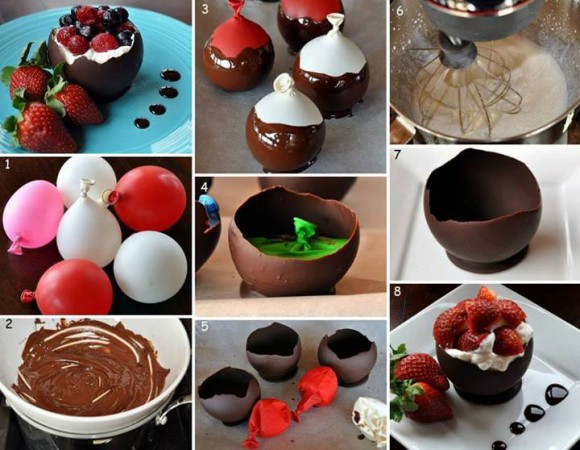 Balloon Chocolate Bowls make at home