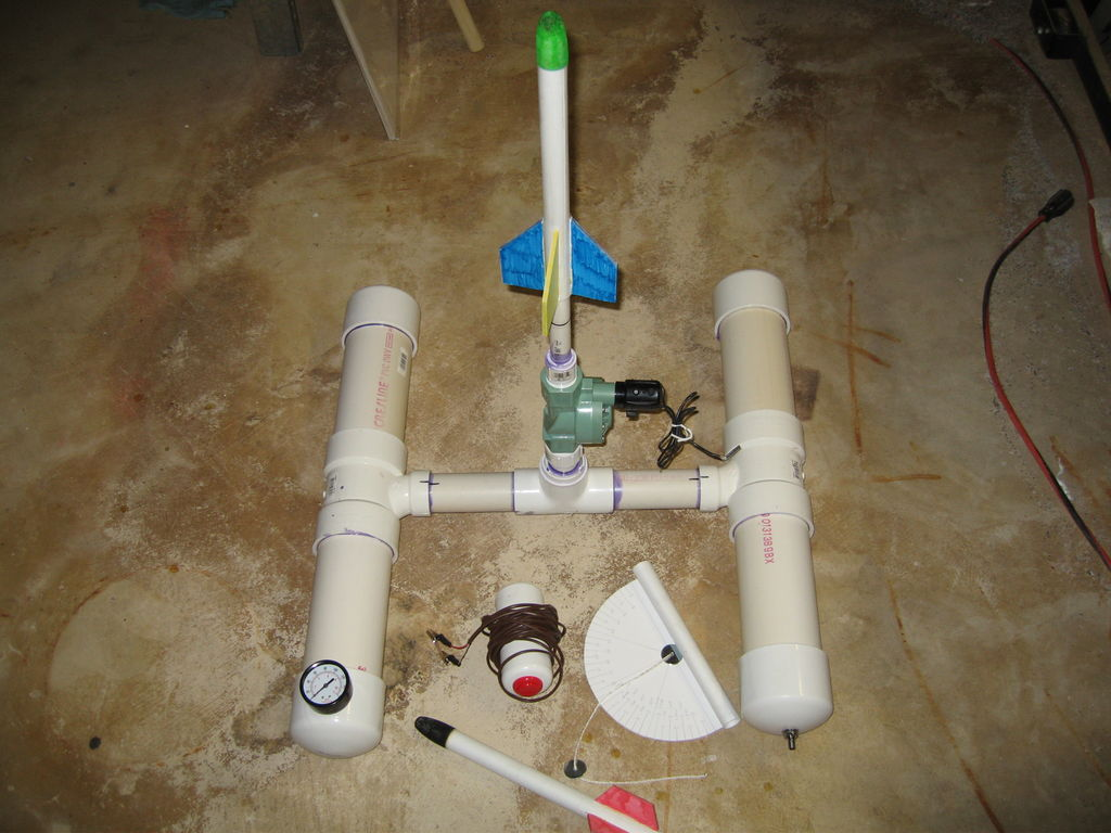 Water bottle rocket launcher